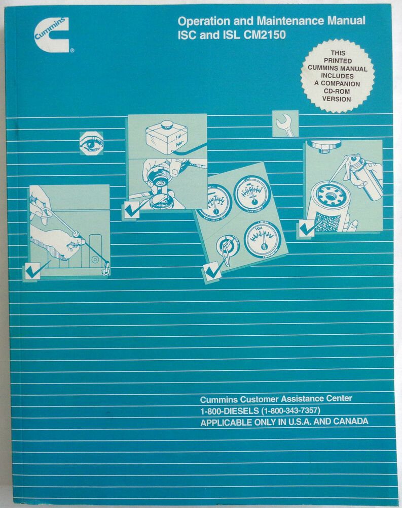 Cummins Operation and Maintenance Manual ISC and ISL CM2150 (Includes CD) |  eBay