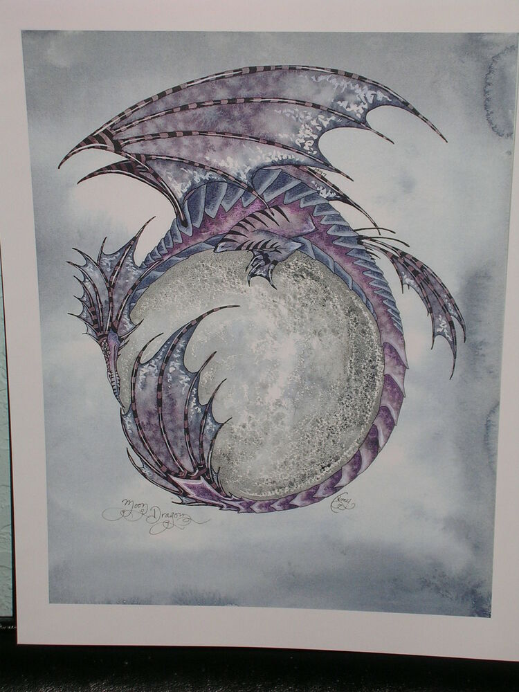 Full Moon Dragon: Amy Brown - Moon Dragon - OUT OF PRINT
