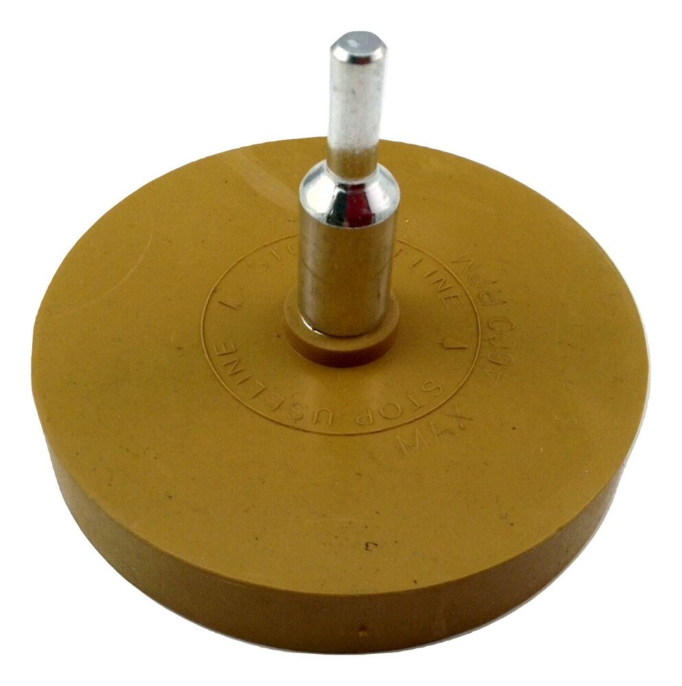 Decal Glue Removal Rubber Eraser Wheel With Drill Arbor Adapter 4 Inch Polisher