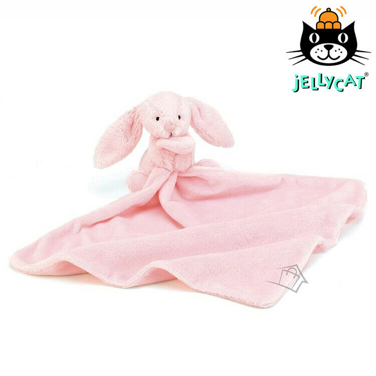 Jellycat Bashful Pink Bunny Soother Baby Newborn Blanket