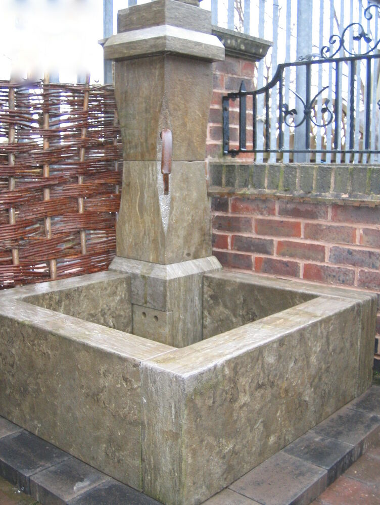 French Stone Corner Fountain Quality French Style Carved Limestone Ebay