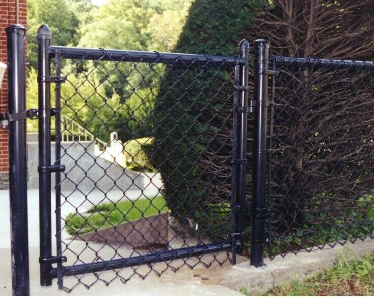 600 5 H All Black Chainlink Fence Package Includes Gate