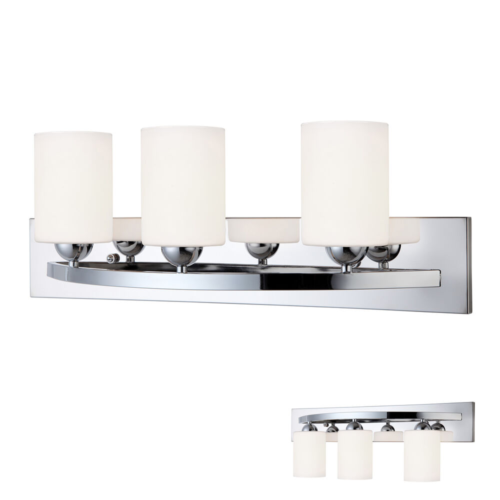 Vanity Light Bar Chrome : Chrome 3 Bulb Bath Vanity Light Bar Fixture Interior Lighting eBay