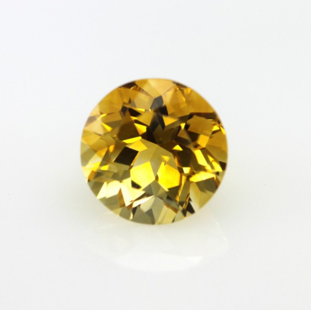 Genuine Natural Golden Citrine Aaa Round Faceted 1 5mm