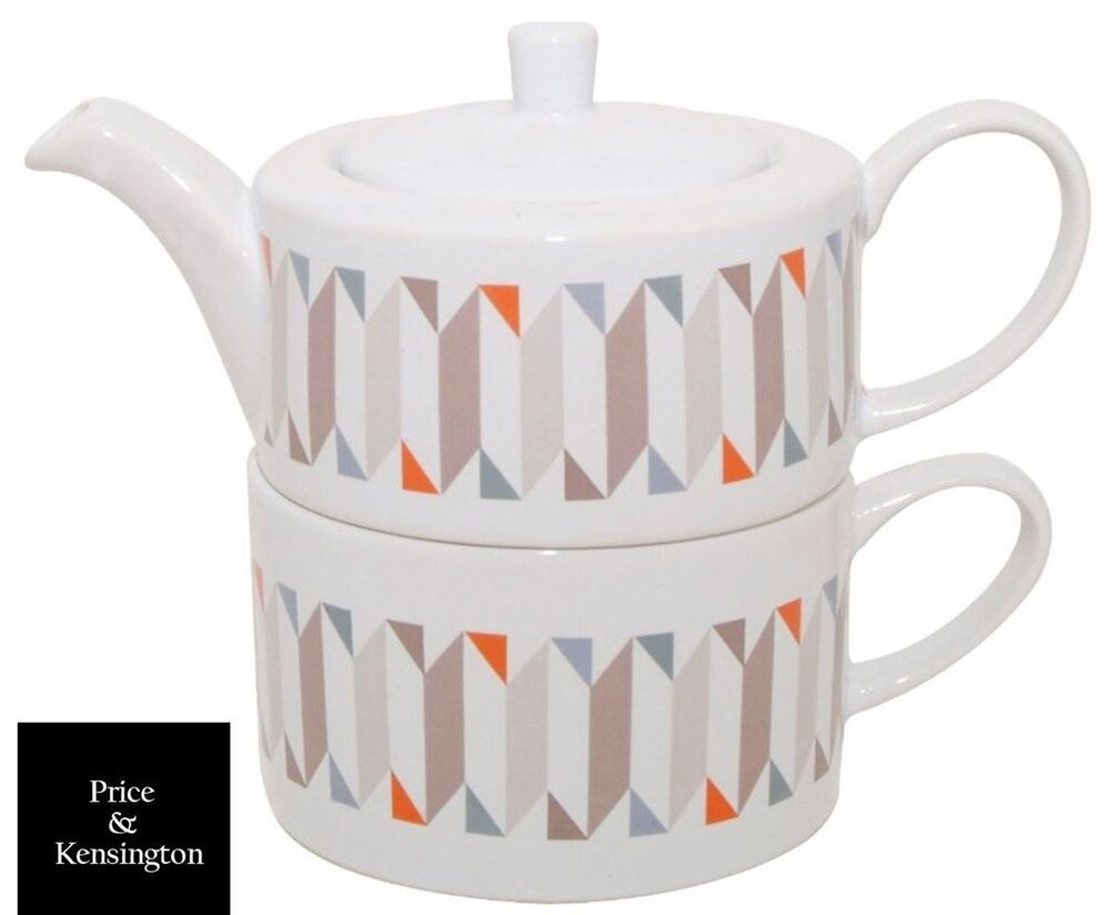 Price And Kensington Geometric Tea For One Ceramic Teapot