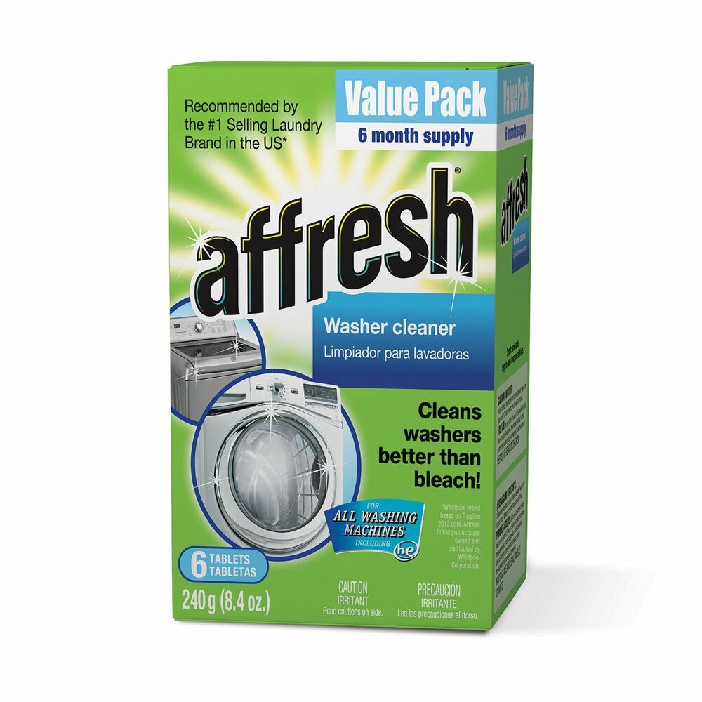 Whirlpool Affresh Washer Machine Cleaner 6 Tablets 8 4