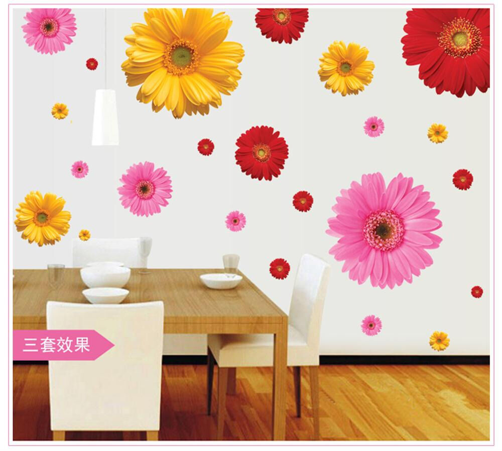 removable 3d big sun flower decal home girl bedroom decor vi