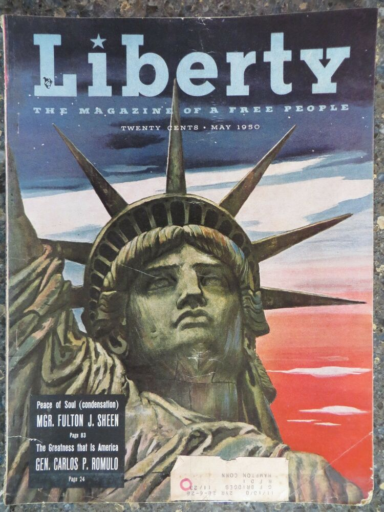 Liberty Magazine May 1950 Lady Liberty Cover Great Vintage