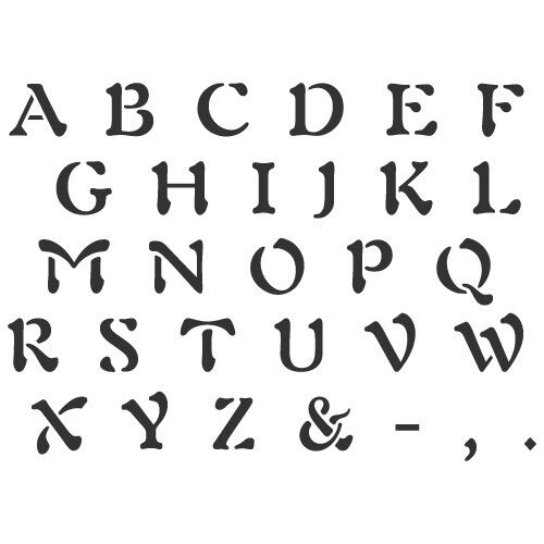 Arts And Crafts Lettering Stencils