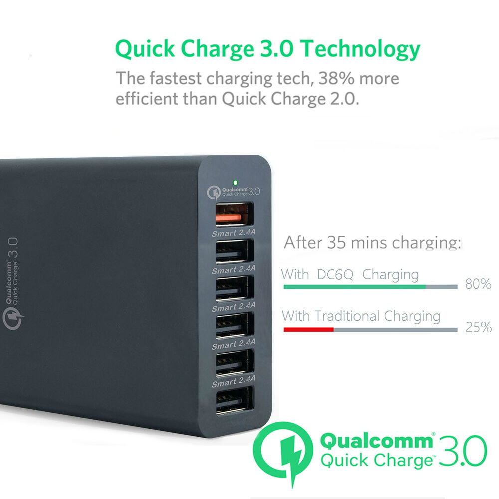Xpower Smart Qualcomm 3 0 58w 6 Port Quick Charge Family