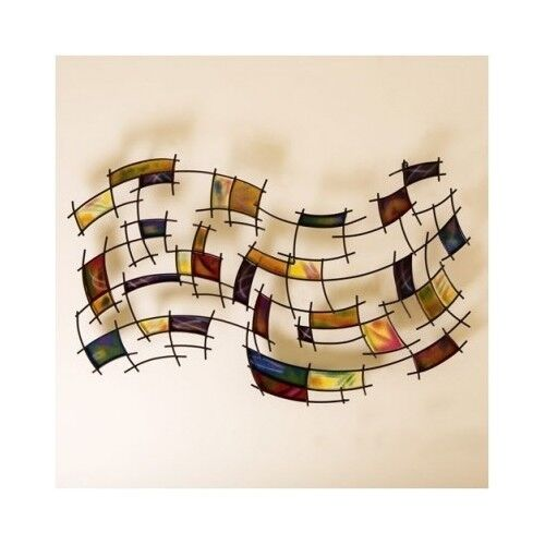 Wall art large metal abstract sculpture modern foyer home for Large wall art for foyer