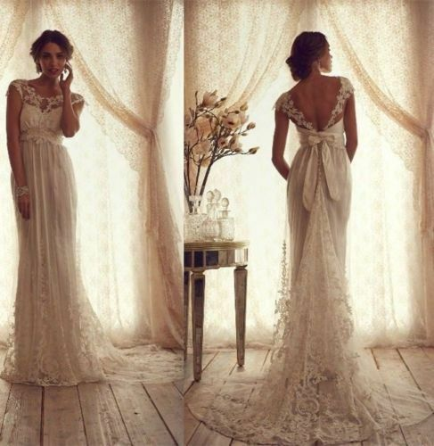 ivory wedding dresses custom size 2 4 6 8 10 12 14 16 18 20 ebay