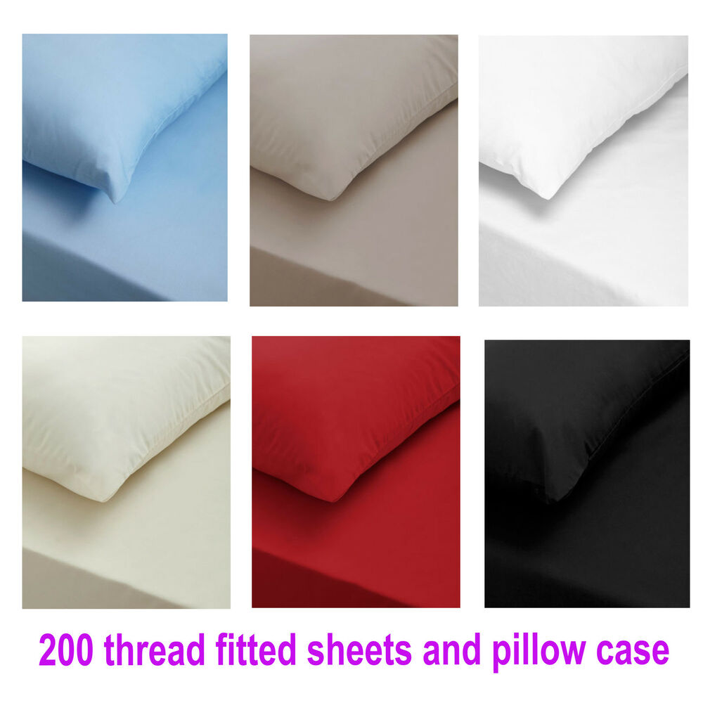 NEW 200 THREAD COUNT LUXURY 100% EGYPTION COTTON FITTED ...