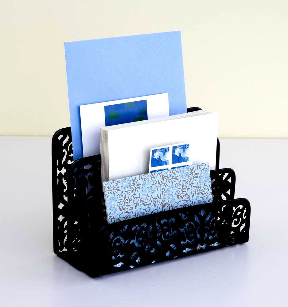 New mail organizer design ideas brocade letter holder - Designer desk accessories and organizers ...