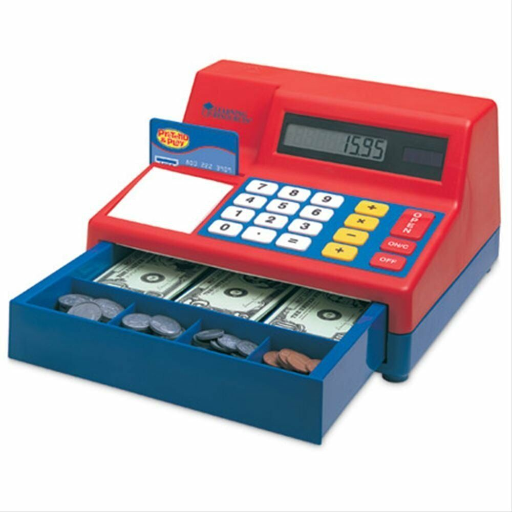 Toy Cash Register : Learning resources pretend play calculator cash register
