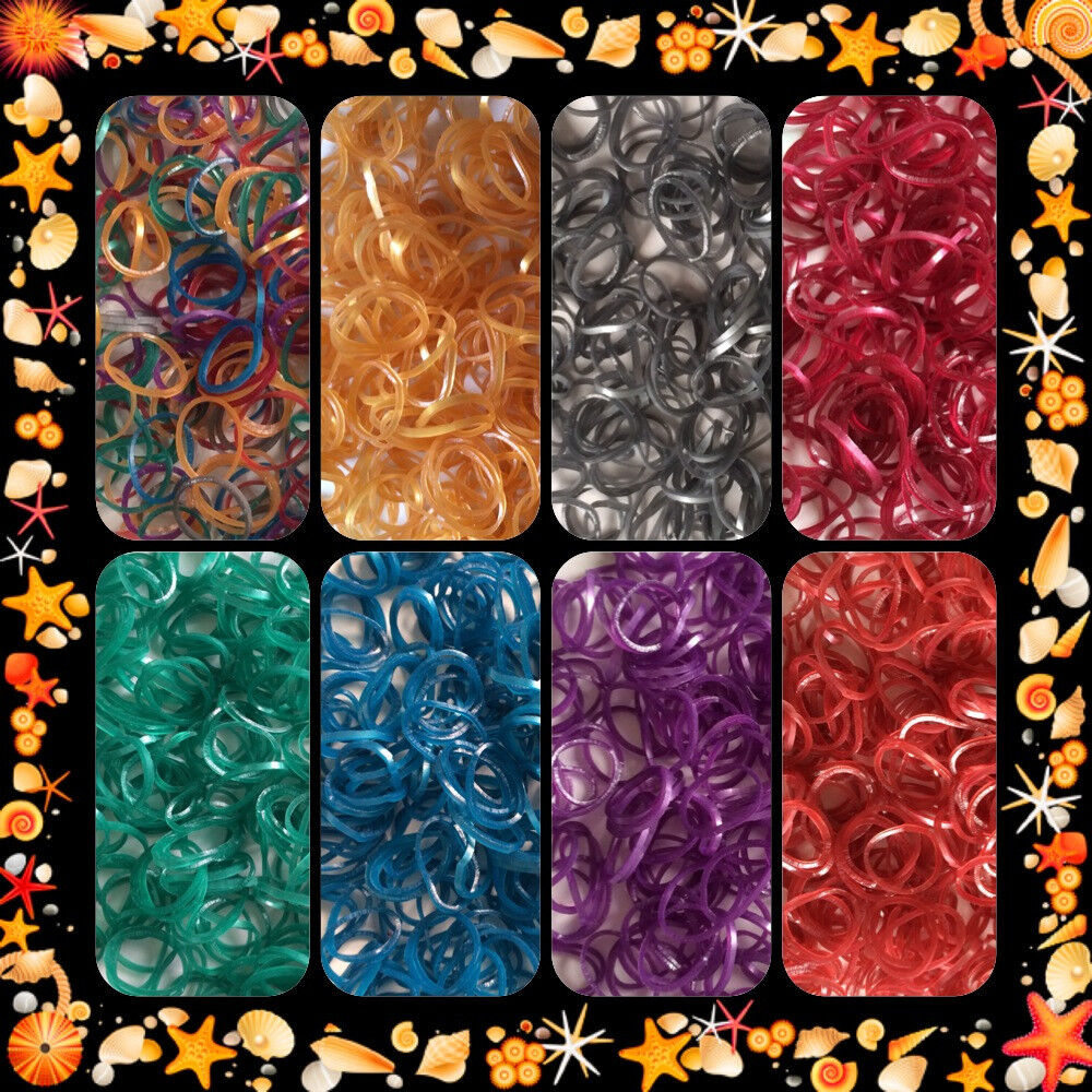 Monster High Ebay >> Metallic Color Rainbow RUBBER BANDS REFILL 100% Latex Free ...