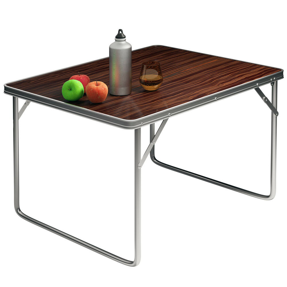campingtisch gartentisch beistelltisch klapptisch aluminium balkontisch klappbar ebay. Black Bedroom Furniture Sets. Home Design Ideas