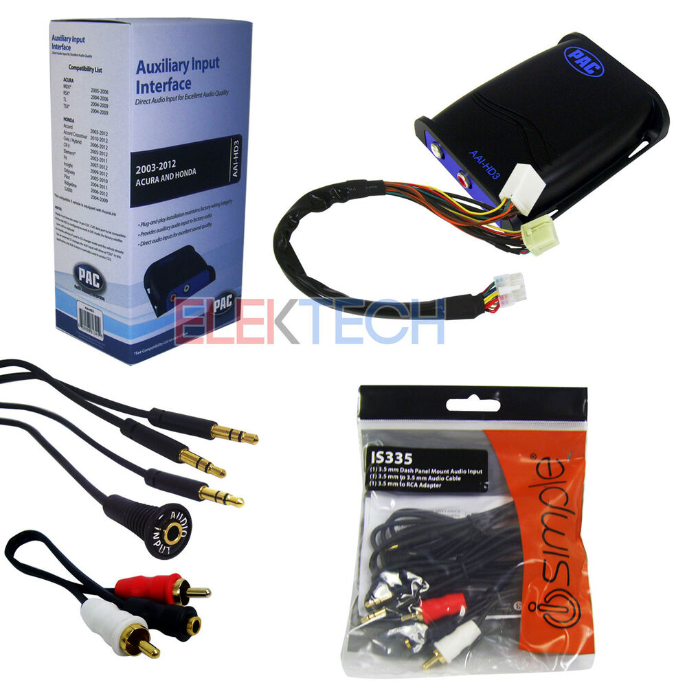 Car Auxiliary Port: Car Audio Auxiliary Input Interface Adapter & Aux/RCA