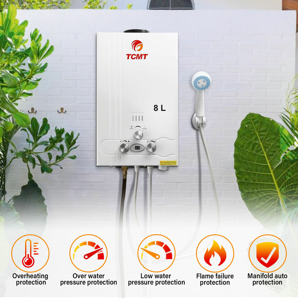 2gpm instant tankless boiler 8l house lpg gas hot water heater on demand propane ebay. Black Bedroom Furniture Sets. Home Design Ideas