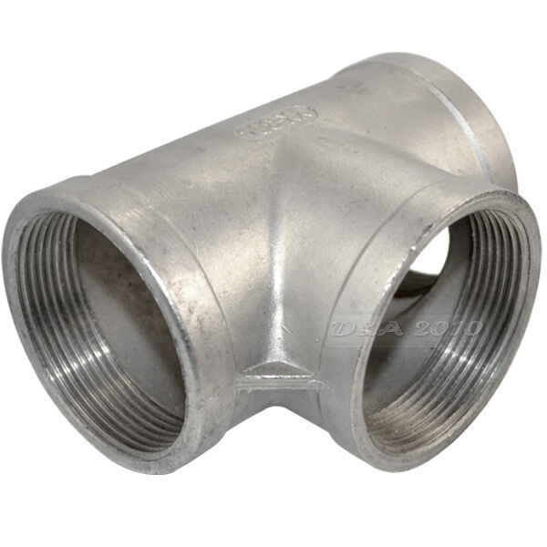 Quot tee way female stainless steel threaded pipe