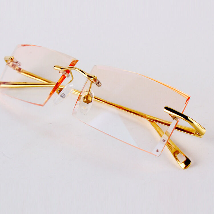 custom made titanium eyeglasses rectangle eyewear