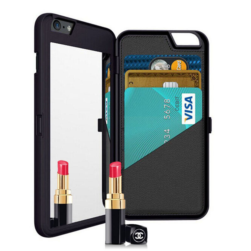 Iphone  Plus Mirror Wallet Case