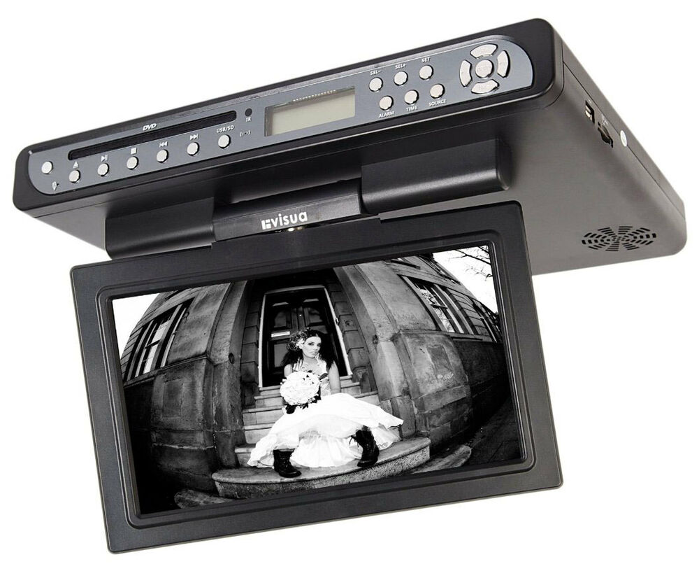 Visua Flip Down Kitchen TV LCD With DVD and Freeview Matt ...