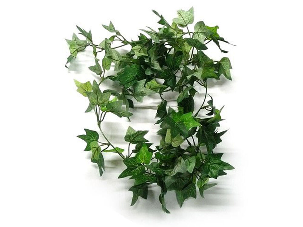 Ivy green leaf vines artificial hangings plants home for Artificial leaves for decoration