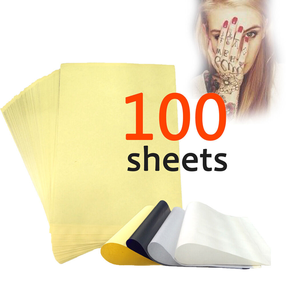 100 sheets tattoo carbon thermal stencil transfer paper 8 for Tattoo transfer paper