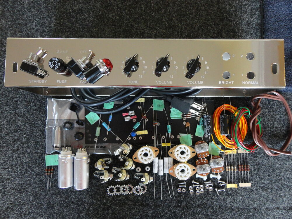 deluxe tweed deluxe 5e3 guitar amp tube 5e3 chassis kit diy multicomp trw ebay. Black Bedroom Furniture Sets. Home Design Ideas