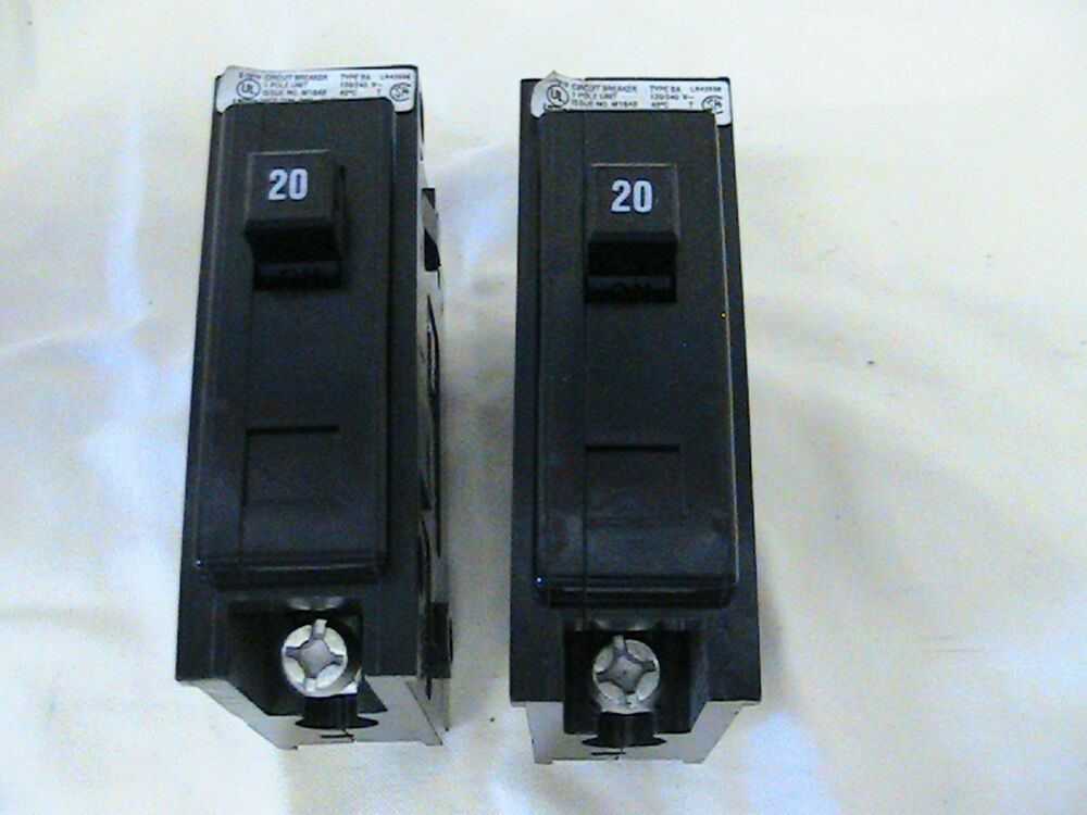 2 Cutler Hammer Quicklag Circuit Breakers Type Ba20a 120