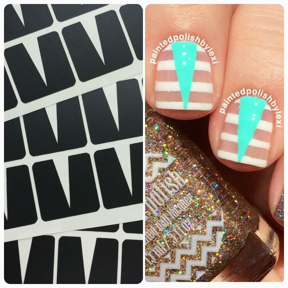 stiletto stencils nail decal vinyls fingernail art ebay. Black Bedroom Furniture Sets. Home Design Ideas