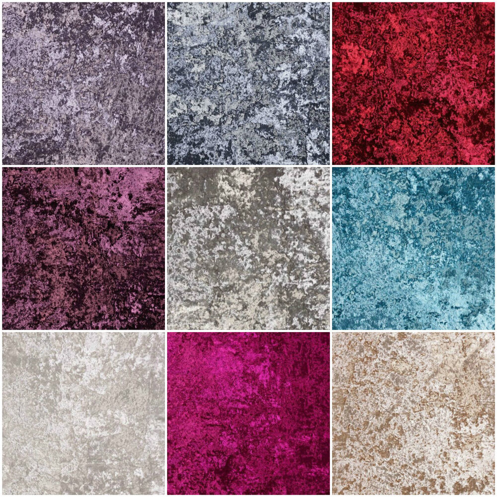 Upholstery Furniture Fabric: Fibre Naturelle Panther Plain Crushed Designer Velvet