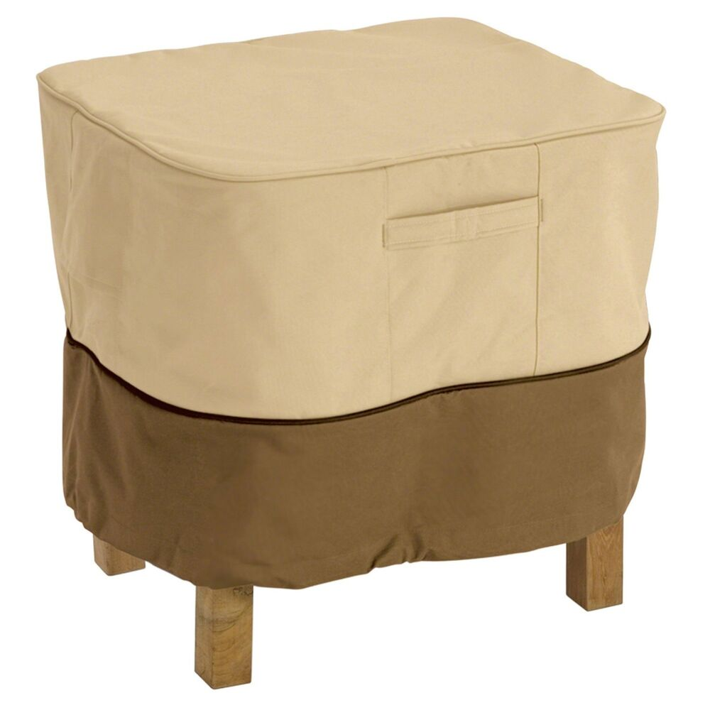 Square Patio Ottoman End Table Cover Deck Furniture Winter Weather Protection