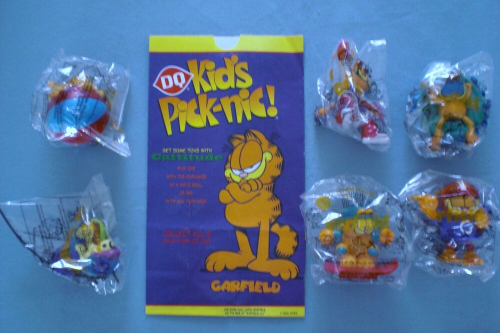 Dairy Queen Toys : Dairy queen garfield summer fun set of mip plus ebay