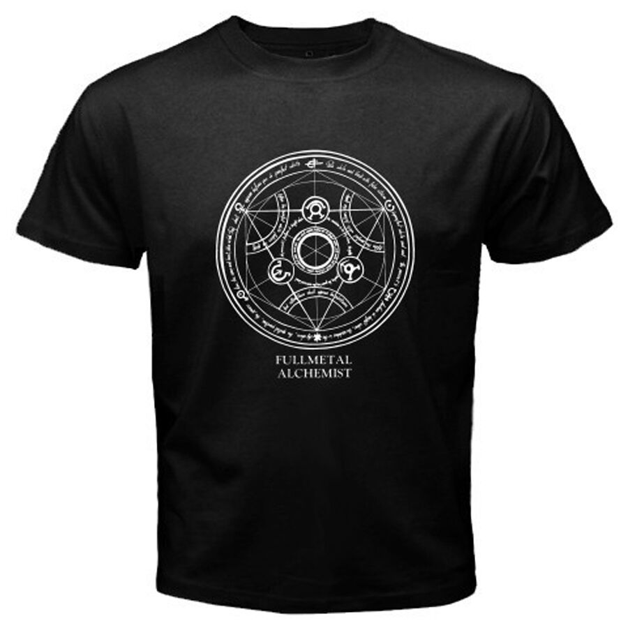 New fma full metal alchemist homonculus seal men 39 s black t for Full black t shirt