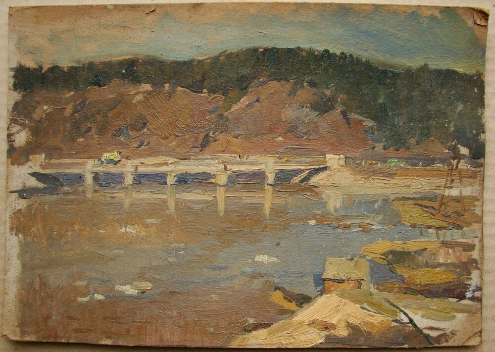 Russian Soviet Oil Painting realism impressionism ...  |1950s American Realism Art Landscapes