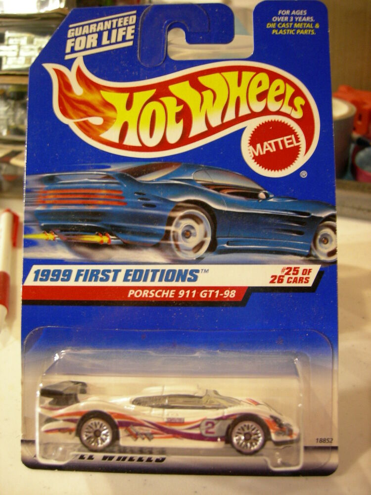 hot wheels porsche 911 gt1 98 1999 first editions 25 of 26 ebay. Black Bedroom Furniture Sets. Home Design Ideas