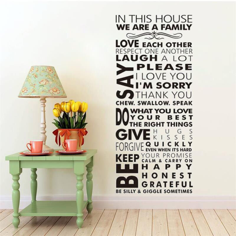 large we are family in this house vinyl family wall
