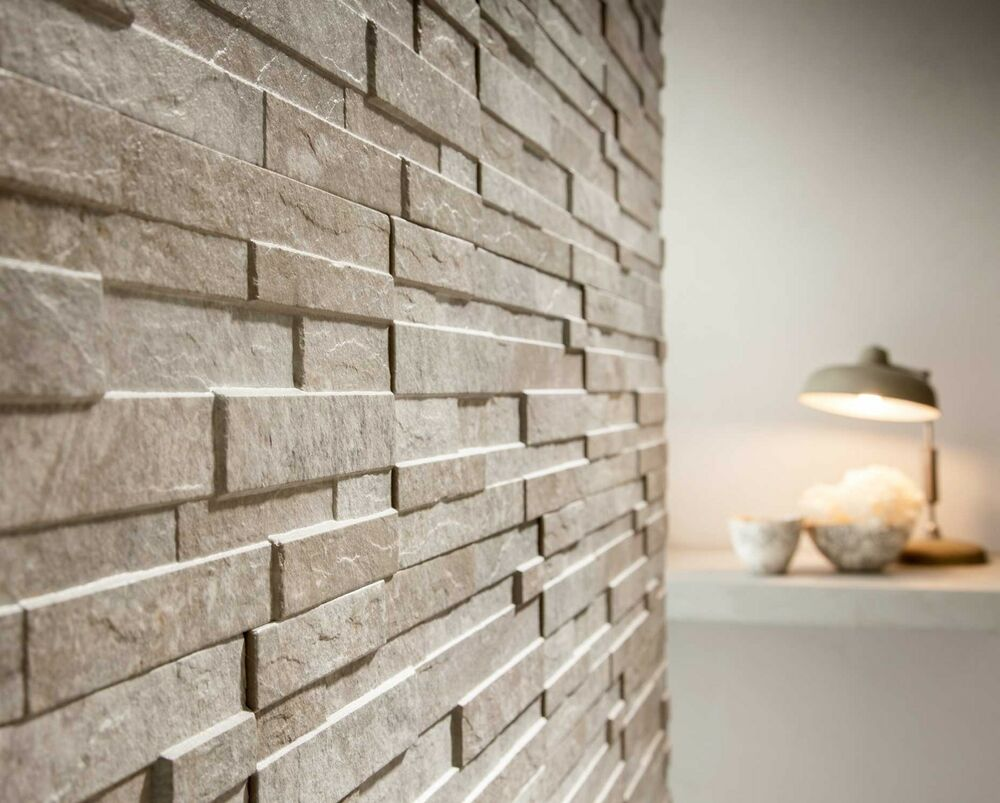 6m2 of bayker walls split face effect wall tiles ebay for Split wall