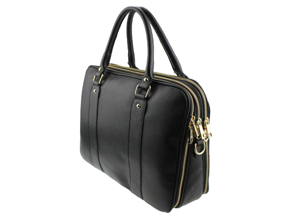 business bag laptoptasche schwarz handtasche umh ngetasche leder tasche satchel ebay. Black Bedroom Furniture Sets. Home Design Ideas