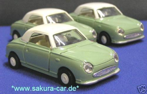 nissan figaro 1 40 diecast model green diapet mib ebay. Black Bedroom Furniture Sets. Home Design Ideas