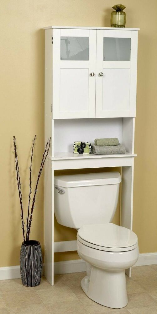 Bathroom Over Toilet Cabinet Space Saver Storage Unit Shelves Display Vanity New Ebay