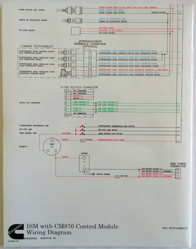 isb cummins wiring diagram cummins laminated ism with cm876 control module wiring ... cummins wiring diagram #1