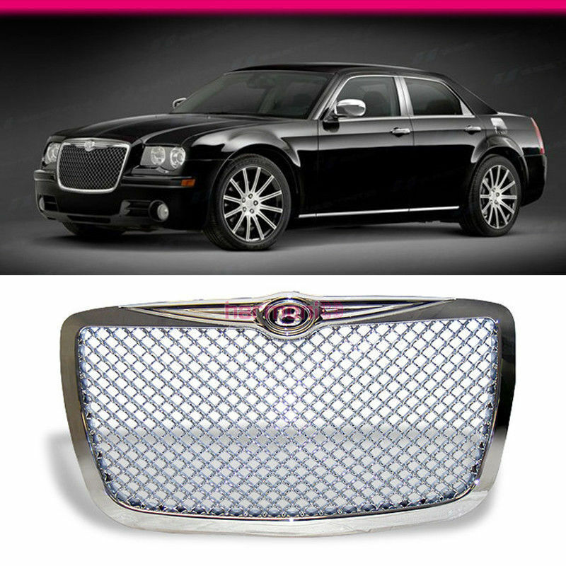 FIT FOR 04-10 CHRYSLER 300 300C CHROME VIP MESH B STYLE