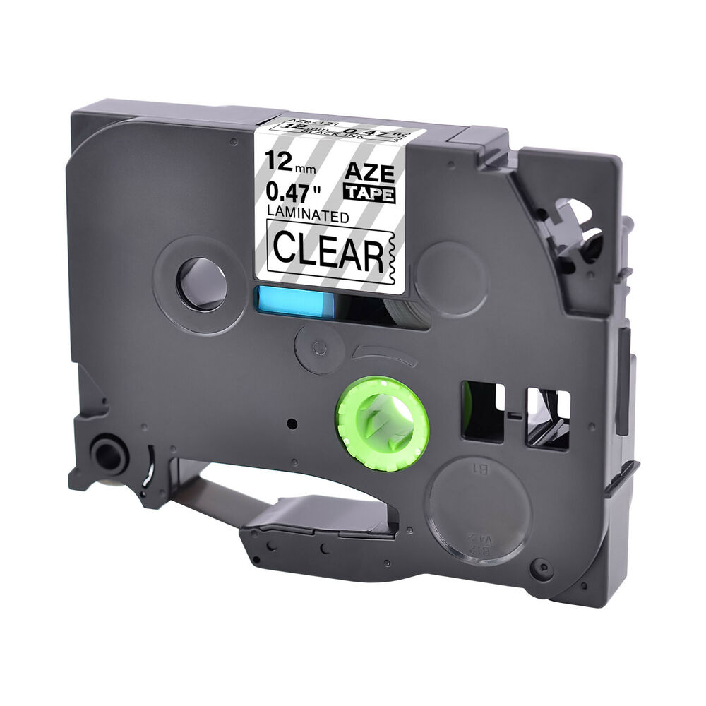 1pk tz 131 12mm black on clear label tape tze 131 for brother p touch pt2030 ebay. Black Bedroom Furniture Sets. Home Design Ideas