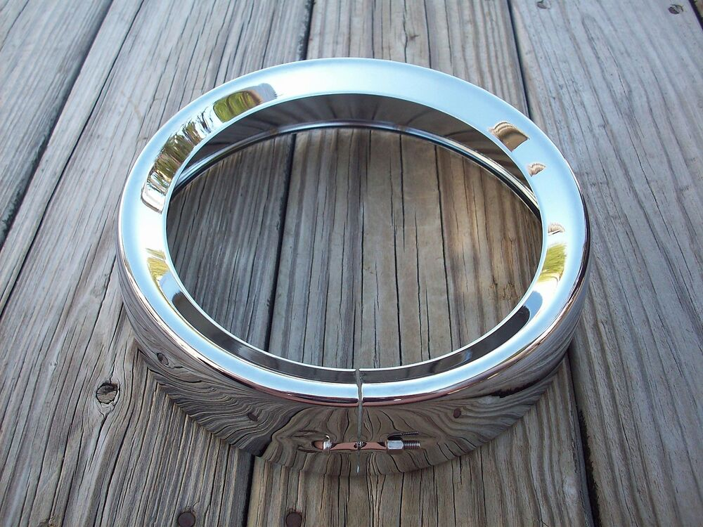 Chrome frenched style headlight trim ring 83 2013 harley davidson touring models ebay Style me up fashion trim rings
