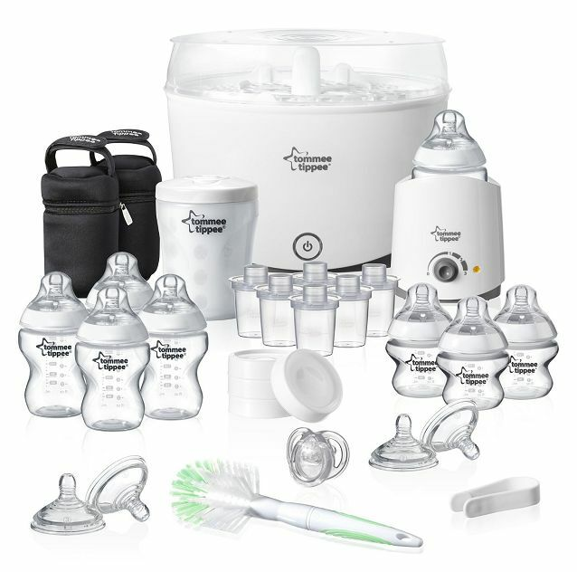 baby bottle steriliser set new born starter kit infant feeding tommee tippee ebay. Black Bedroom Furniture Sets. Home Design Ideas