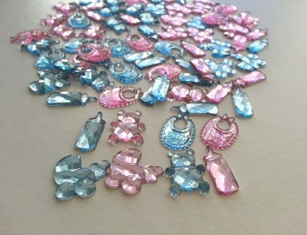 50 baby shower christening boy girl party table confetti for Baby confetti decoration