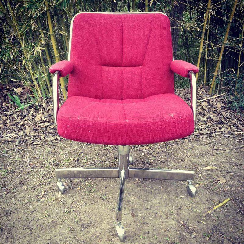 Vintage Mid Century Modern Chromcraft Swivel Executive